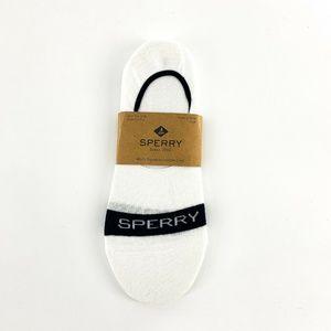 nwt | Sperry Mens Signature Line Socks White